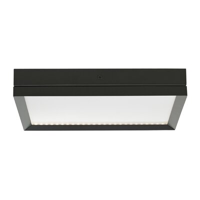 Finch LED Flush Mount Finish: Antique Bronze, Voltage: 277V
