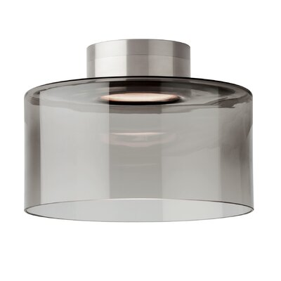 Manette 1-Light LED Semi Flush Mount Shade Color: Transparent Smoke, Size: 6.3 H x 5 W x 5 D