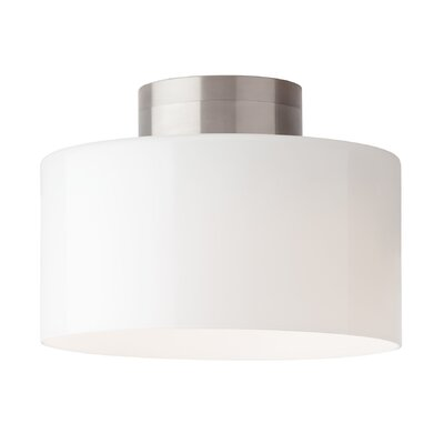 Manette 1-Light LED Semi Flush Mount Shade Color: Gloss White, Size: 7.9 H x 11 W x 11 D