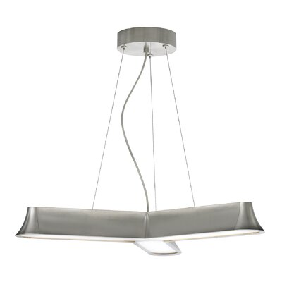 Zhane Trio Geometric Pendant Finish: Satin Nickel, Bulb Type: LED 277V