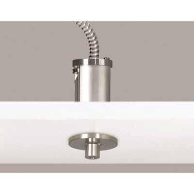 Line-Voltage Semi Flush Canopy Finish: Satin Nickel