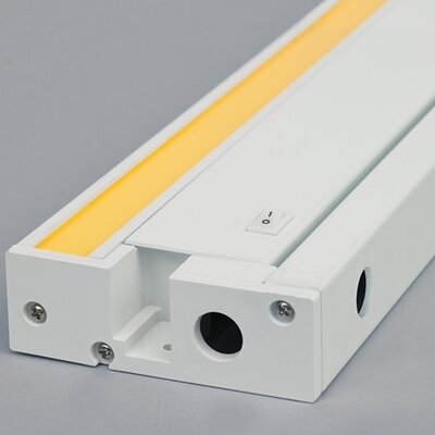 Unilume LED Under Cabinet Bar Light Finish: White, Size: 1.3 H x 19.2 W x 3.7 D, Bulb Color Temperature: 930K