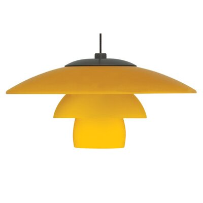 Sydney Monorail 1-Light Geometric Pendant Finish: Satin Nickel, Shade Color: Amber