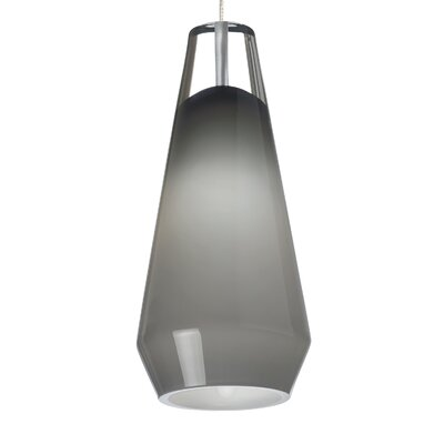 Lustra FreeJack 1-Light Mini Pendant Finish: Satin Nickel, Shade Color: Smoke, Bulb Type: 90 CRI 3000K 12 V LED