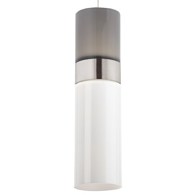 Manette 1-Light Mini Pendant Base Finish: Satin Nickel, Shade Color: Smoke