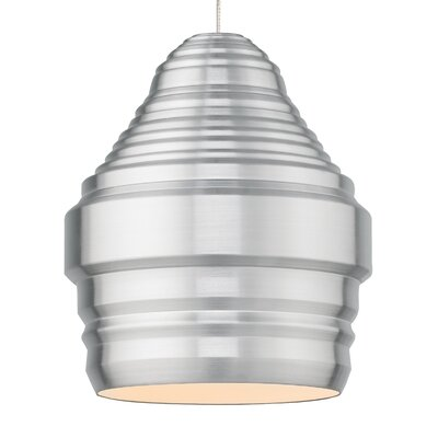 Ryker 1-Light Kable Lite Pendant Shade Color: Brushed Aluminum, Bulb Type: 90 CRI 3000K 120V LED