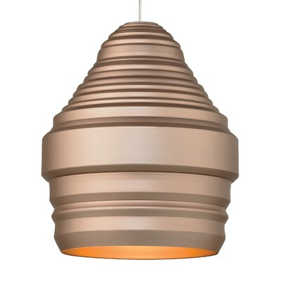 Ryker 1-Light Kable Lite Pendant Bulb Type: Incandescent, Shade Color: Gold