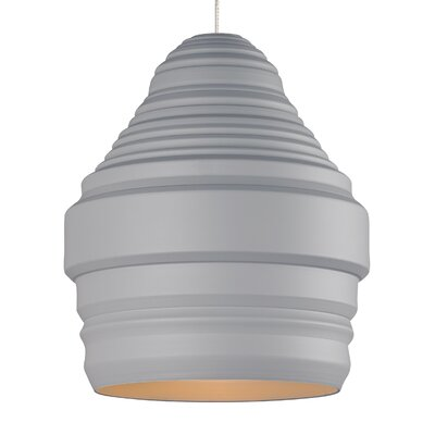 Ryker 1-Light Kable Lite Pendant Bulb Type: Incandescent, Shade Color: Gray