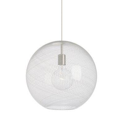 Palestra 1-Light LED Globe Pendant Bulb Type: Incandescent