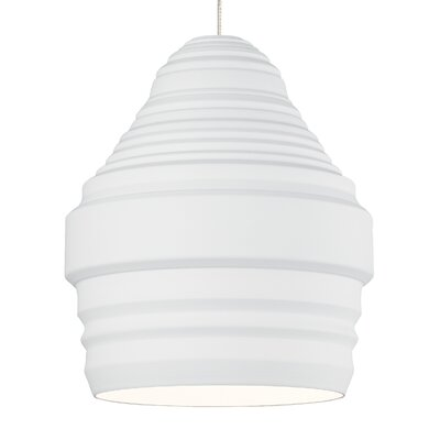 Ryker Monopoint 1-Light Mini Pendant Shade Color: White, Bulb Type: Incandescent