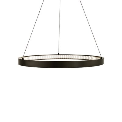 Geometric Pendant Finish: Antique Bronze, Bulb Type: 80 CRI 2400K 120 V LED