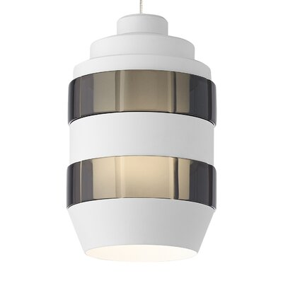 Akida Monopoint 1-Light Mini Pendant Finish: Antique Bronze, Shade Color: Smoke-Matte White, Bulb Type: 12 Volt Halogen