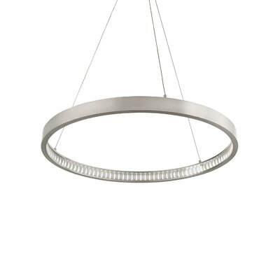 Geometric Pendant Finish: Satin Nickel, Bulb Type: 80 CRI 2400K 120 V LED
