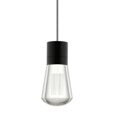 Alva 1-Light Mini Pendant Finish: Black/White, Size: 192