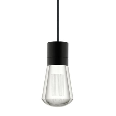 Alva 1-Light Mini Pendant Finish: Black/White, Size: 288