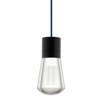 Alva 1-Light Mini Pendant Finish: Blue, Size: 192