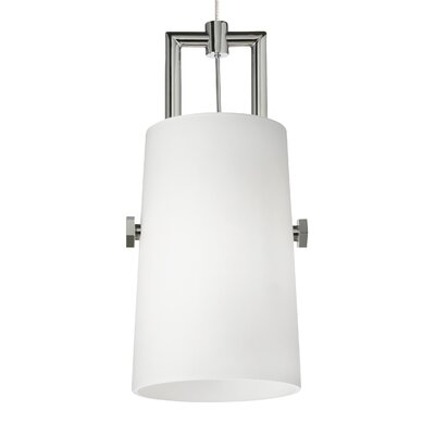 Revere 1-Light Kable Lite Mini Pendant Finish: Chrome/Chrome, Shade Color: White, Bulb Type: 80 CRI 3000K 120 V LED