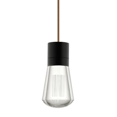 Alva 1-Light Mini Pendant Size: 192, Finish: Brown