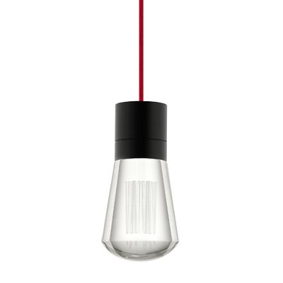 Alva 1-Light Mini Pendant Finish: Red, Size: 192