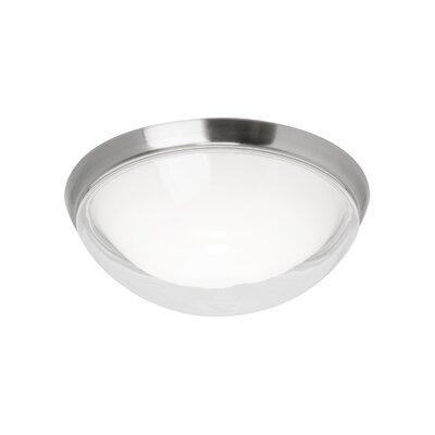 Jaxon 1-Light Flush Mount Finish: Satin Nickel, Bulb Type: 80 CRI 3000K 120 V LED