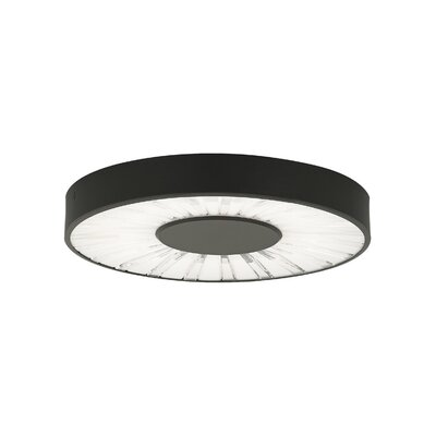 Flush Mount Finish: Satin Nickel, Size: 1.6 H x 7.6 W x 7.6 D, Bulb Type: 80 CRI 3000K 120 V LED