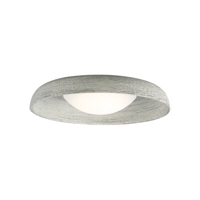 Karam 1-Light Flush Mount Finish: Concrete, Bulb Type: 90 CRI 3000K 120V LED