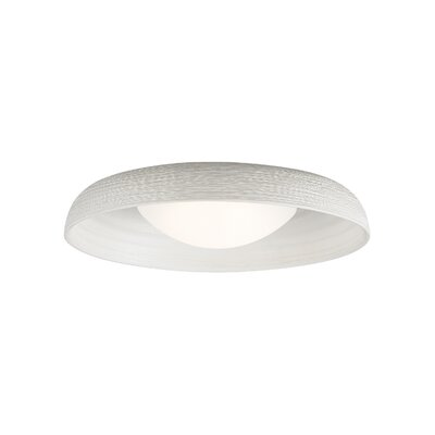Karam 1-Light Flush Mount Finish: White, Bulb Type: 120V Warm Color Dimming 3000K - 2200K LED