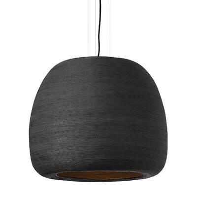Pilcher 1-Light Mini Pendant Finish: Black/Black