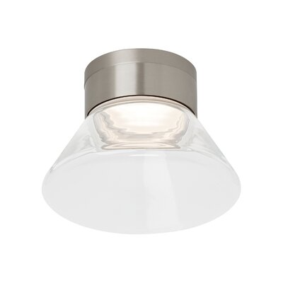 Casen 1-Light Semi-Flush Mount Bulb Type: 80 CRI 3000K 277 V LED, Shade Color: Clear