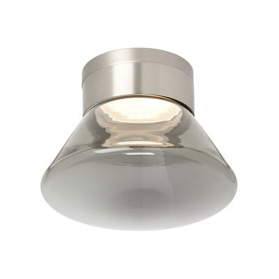 Casen 1-Light Semi-Flush Mount Shade Color: Smoke, Bulb Type: 80 CRI 3000K 120 V LED