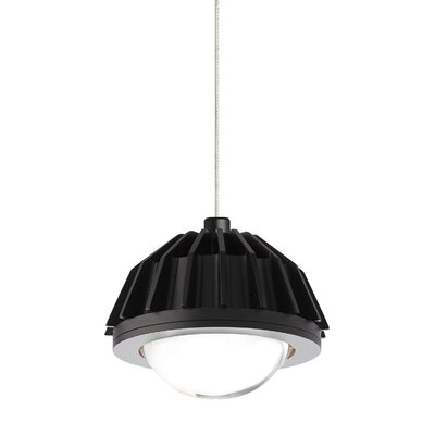 Eros 2-Circuit Monorail Low-Voltage 1-Light Mini Pendant Finish: Satin Nickel