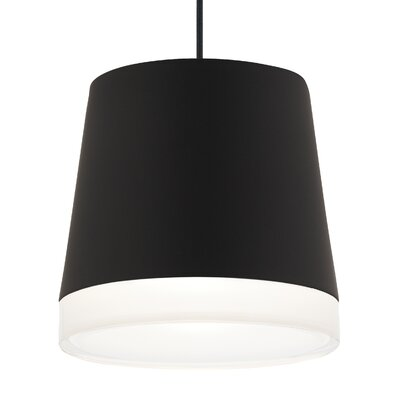 Henrik Grande 1-Light Mini Pendant Shade Color: Black, Finish: Satin Nickel, Bulb Type: Compact Fluorescent