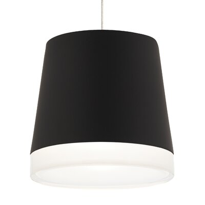 Henrik 2-Circuit Monorail 1-Light Mini Pendant Shade Color: Black, Bulb Type: 90 CRI 3000K 12 V LED