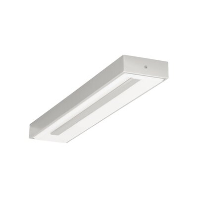Wynter 1-Light Flush Mount Finish: Satin Nickel, Bulb Type: 80 CRI 3000K 277 V LED