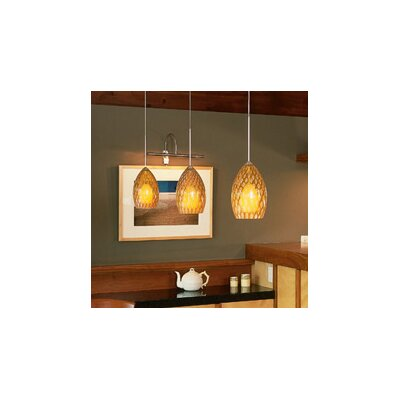 Firebird 1-Light Track Pendant Bulb Type: Halogen, Finish: Antique Bronze, Shade Color: Amber
