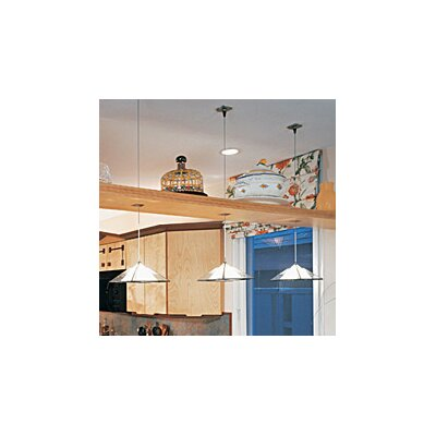 1-Light Oak Park Pendant Finish: Chrome, Shade Color: White