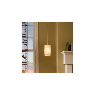 Fab 1-Light Mini Pendant Finish: Satin Nickel, Color: Almond, Bulb Type: 1 x 8W LED