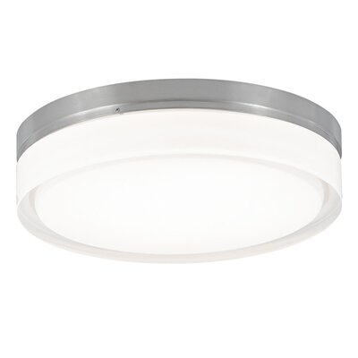 Yedinak 1-Light Flush Mount Finish: Satin Nickel