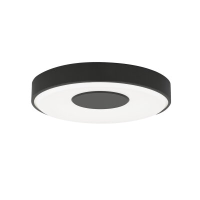 Wynte Flush Mount Size: 1.9 H x 7.6 W x 7.6 D, Bulb Type: 80 CRI 3000K 120 V LED, Finish: Satin Nickel
