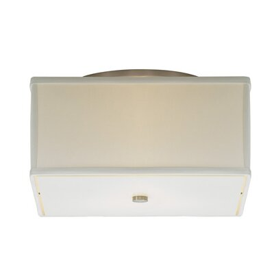 Chambers 2-Light Flush Mount Shade Color: Desert Clay