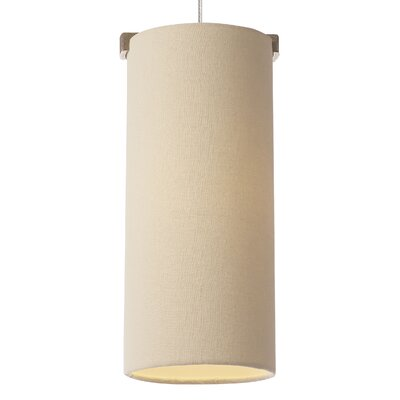 Boreal 1-Light Drum Pendant Base Finish: White Bronze