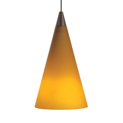 Cone Mini Pendant Base Finish: Chrome, Shade Color: Amber