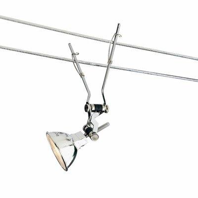 Kable Lite 1-Light Jane Track Head Length: 36, Finish: Chrome