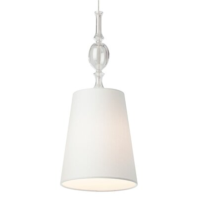 Iliana 1-Light Inverted Pendant Finish: Satin Nickel, Shade Color: White Shade with Clear Fount, Bulb Type: 1 x 6W LED