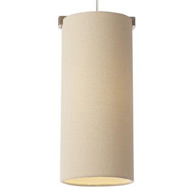 Boreal 1-Light Mini Pendant Finish: Satin Nickel, Color: Ivory, Bulb Type: 1 x 8W LED