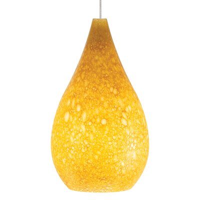 Brul�e Mini Pendant Base Finish: Chrome, Shade Color: Amber