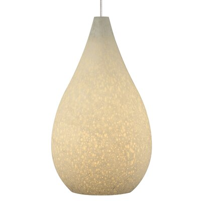 Brul�e 1-Light Mini Pendant Base Finish: Antique Bronze, Shade Color: White