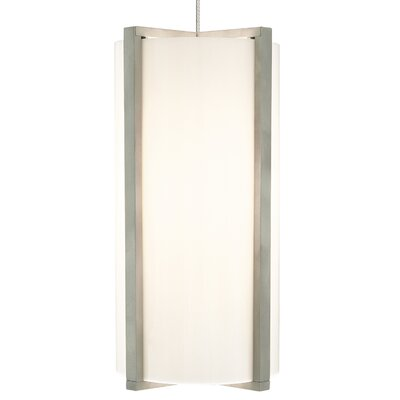 Essex 1-Light Mini Pendant Base Finish: Satin Nickel, Shade Color: Surf White, Bulb Type: 80 CRI 3000K LED
