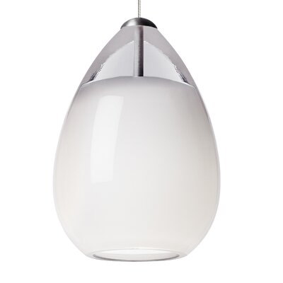 Alina 1-Light Mini Pendant Base Finish: Satin Nickel, Shade Color: White, Bulb Type: 90 CRI 3000K LED