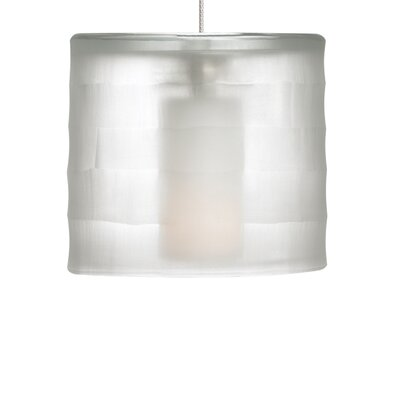 Bali Drum Pendant Shade Color: Crystal, Base Finish: Chrome